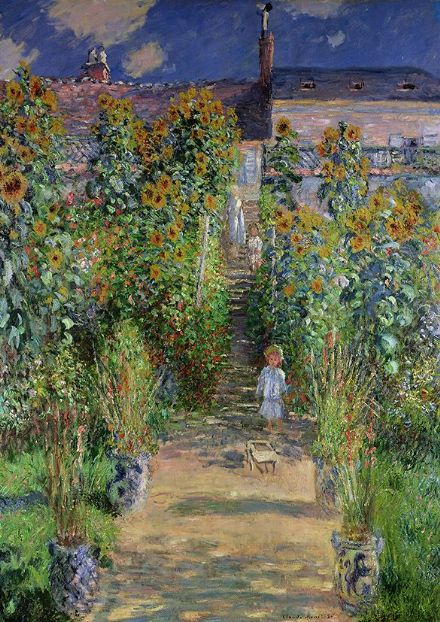 Monet, Claude: The Artist's Garden at Vetheuil. Fine Art Print/Poster. Sizes: A4/A3/A2/A1 (00767)